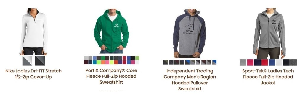 Fort Worth promotional products sweatshirts