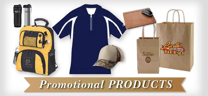 Promotional products Brumley promo image with banner